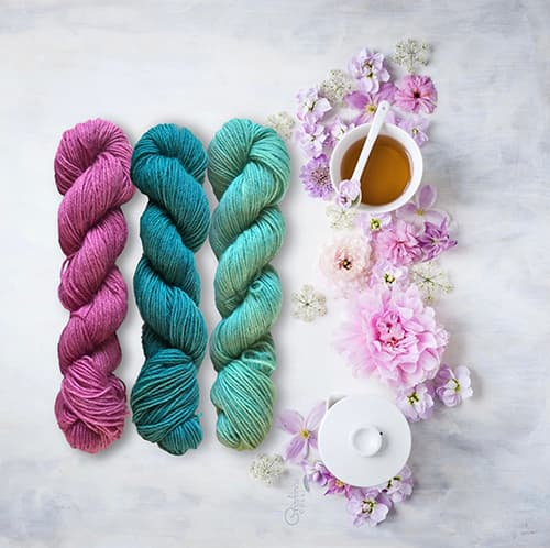 Lanas naturales para patrón de calcetines Merche