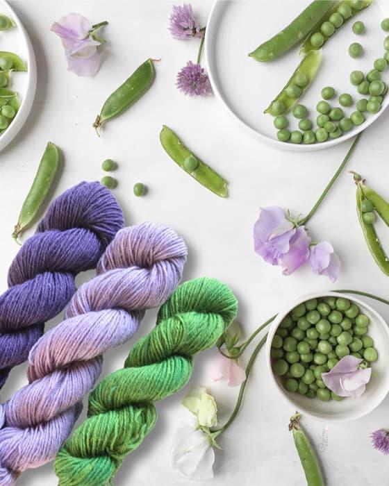 Lanas naturales para patrón de calcetines